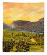 La Vigna Sul Fiume Fleece Blanket