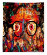 Label The Brain Through The Eyes - Lords Of Madness Fleece Blanket