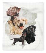Labrador Retriever W/ghost Fleece Blanket