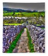 Labyrinth Of Grassington Fleece Blanket
