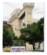 Lacerda Elevator In Salvador Bahia Fleece Blanket