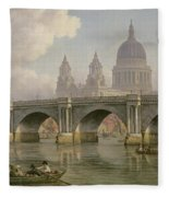 Blackfriars Bridge And St Paul's Cathedral Fleece Blanket
