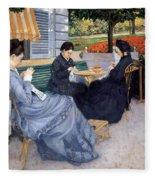 Ladies Sewing Fleece Blanket