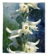 Ladies-tresses Orchid Fleece Blanket