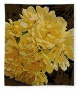 Lady Banks Rose Cluster Fleece Blanket