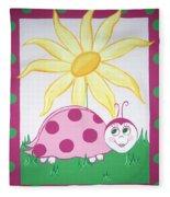 Lady Bug Fleece Blanket
