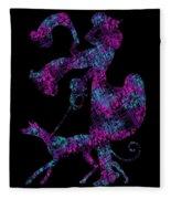 Lady Dog Walker Transparent Background Fleece Blanket