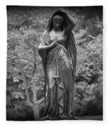 Lady In The Garden 2 Fleece Blanket