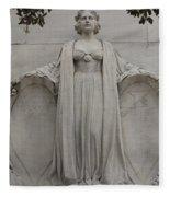 Lady Liberty On Alamo Monument Fleece Blanket