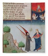 Lady Philosophy Leads Boethius In Flight Into The Sky On The Wings That She Has Given Him Fleece Blanket