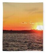 Lady Sunset Fleece Blanket