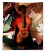 Lady Violin 01 Fleece Blanket