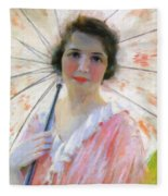 Lady With A Parasol 1921 Fleece Blanket