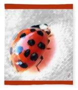 Ladybug Spectacular Fleece Blanket