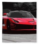 La Ferrari Fleece Blanket