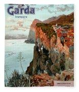 Lago Di Garda Lake Garda Vintage Poster Fleece Blanket