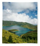 Lagoa Do Fogo Fleece Blanket