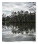 Lagoon Reflection 1 Fleece Blanket