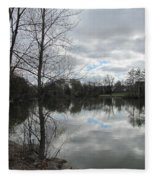 Lagoon Reflections 2 Fleece Blanket