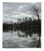 Lagoon Reflections 4 Fleece Blanket
