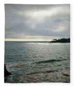 Laguna Beach Sunset Fleece Blanket