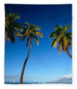 Lahaina, Five Coconut Tre Fleece Blanket