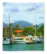 Lahina Harbor Fleece Blanket