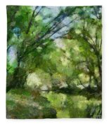 Lahinja River Fleece Blanket