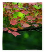 Laid Upon The Branches Fleece Blanket