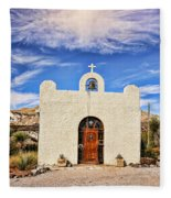 Lajitas Chapel 1 Fleece Blanket
