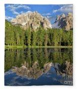 Lake Antorno Fleece Blanket