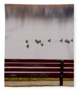 Lake Bench Fleece Blanket