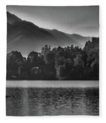 Lake Bled Rower - Slovenia Fleece Blanket