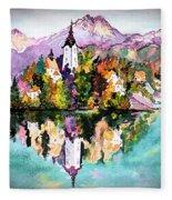 Lake Bled - Slovenia Fleece Blanket