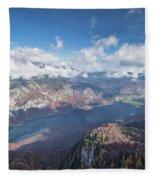Lake Bohinj From Mount Vogel Fleece Blanket