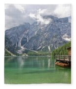 Lake Braies Fleece Blanket