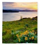 Lake Coeur D'alene Spring Fleece Blanket