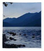 Lake Crescent Fleece Blanket