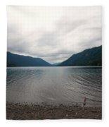 Lake Crescent Four Fleece Blanket