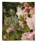 Lake Crescent Lodge Rhododendrons Fleece Blanket