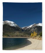 Lake Dillon Colorado Fleece Blanket