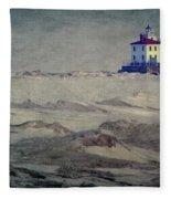 Lake Erie Lighthouse Fleece Blanket