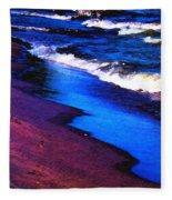 Lake Erie Shore Abstract Fleece Blanket