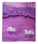 Lake Fantasy Fleece Blanket