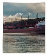 Lake Freighter - Honorable James L Oberstar Fleece Blanket
