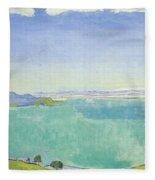 Lake Geneva From The Caux Fleece Blanket
