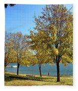 Lake George  12 Fleece Blanket