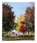 Lake George  3 Fleece Blanket