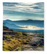 Lake George From Cat Mountain 1 Fleece Blanket
