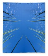 Lake Grass Reflection Fleece Blanket